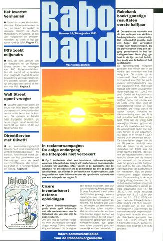 blad 'Raboband' 1991-08-26