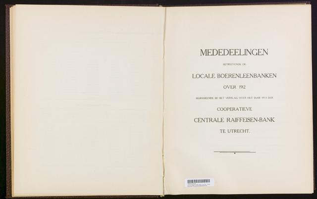 Mededelingen lokale banken CCRB 1912-12-31