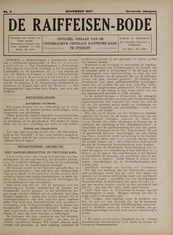 blad 'De Raiffeisen-bode' (CCRB) 1927-11-01
