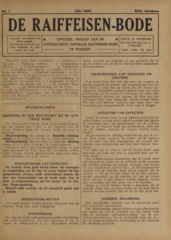 blad 'De Raiffeisen-bode' (CCRB) 1925-07-01