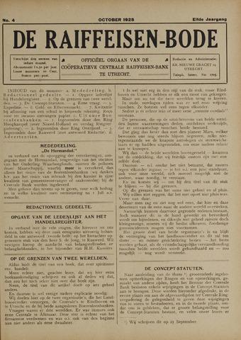 blad 'De Raiffeisen-bode' (CCRB) 1925-10-01