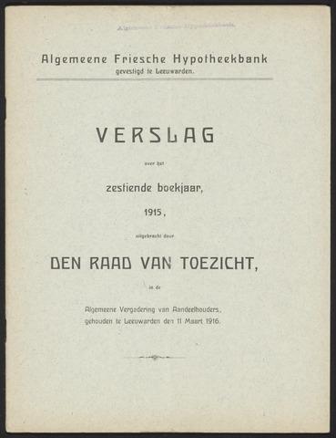 Jaarverslagen Algemeene Friesche Hypotheekbank 1915