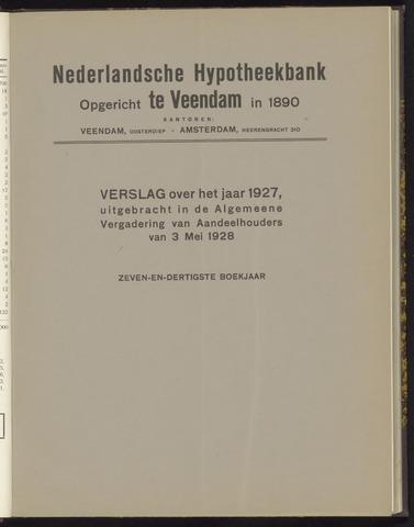 Jaarverslagen Nederlandsche Hypotheekbank 1927