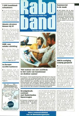 blad 'Raboband' 1991-11-04
