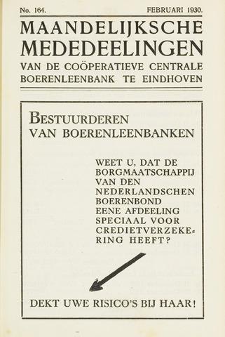 blad 'Maandelijkse Mededelingen' (CCB) 1930-02-01
