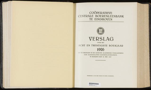 Jaarverslagen Coöperatieve Centrale Boerenleenbank 1926-12-31