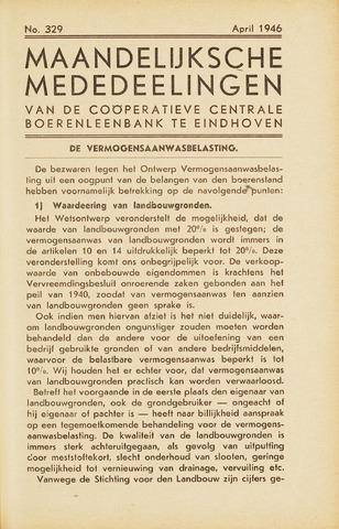 blad 'Maandelijkse Mededelingen' (CCB) 1946-04-01
