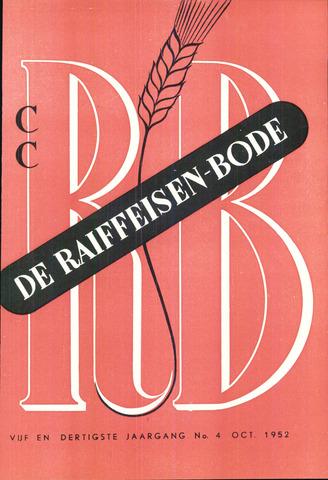blad 'De Raiffeisen-bode' (CCRB) 1952-10-01
