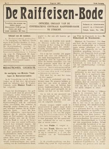 blad 'De Raiffeisen-bode' (CCRB) 1917-08-01