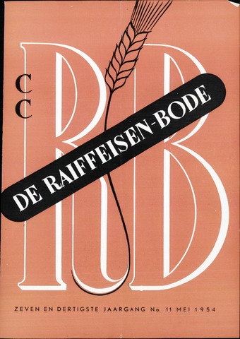 blad 'De Raiffeisen-bode' (CCRB) 1954-05-01