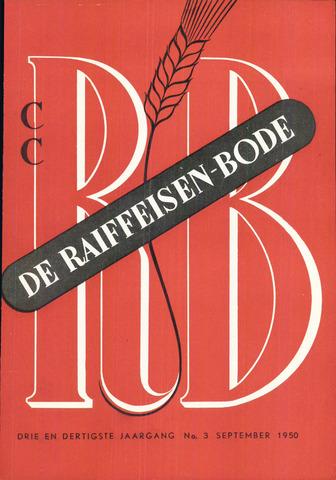 blad 'De Raiffeisen-bode' (CCRB) 1950-09-01
