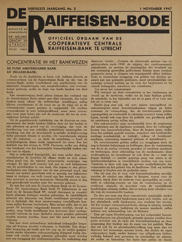 blad 'De Raiffeisen-bode' (CCRB) 1947-11-01