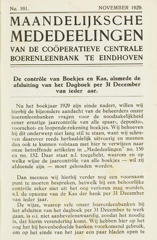 blad 'Maandelijkse Mededelingen' (CCB) 1929-11-01