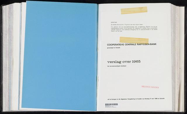 Jaarverslagen Coöperatieve Centrale Raiffeisen-Bank 1965