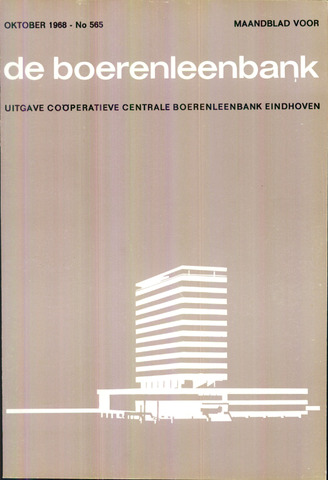 blad 'de boerenleenbank' (CCB) 1968-10-01