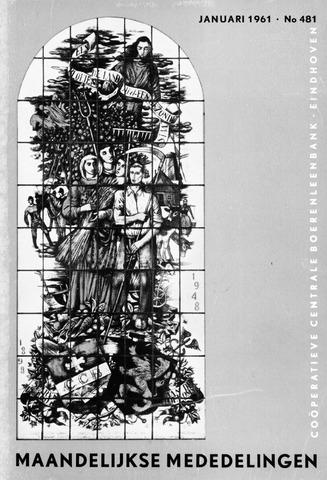 blad 'Maandelijkse Mededelingen' (CCB) 1961