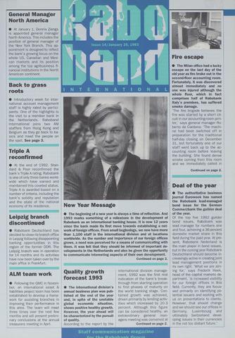 blad 'Raboband International' (EN) 1993-01-25