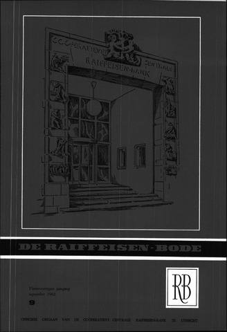 blad 'De Raiffeisen-bode' (CCRB) 1962-09-01