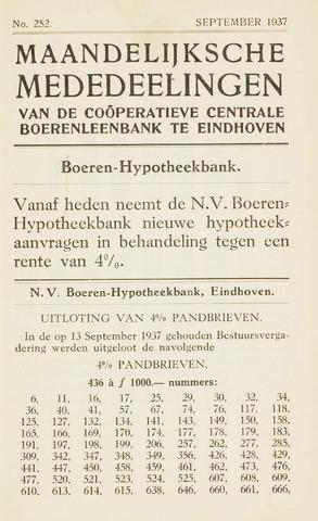 blad 'Maandelijkse Mededelingen' (CCB) 1937-09-01
