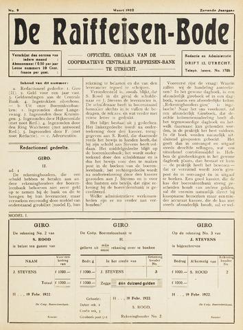 blad 'De Raiffeisen-bode' (CCRB) 1922-03-01