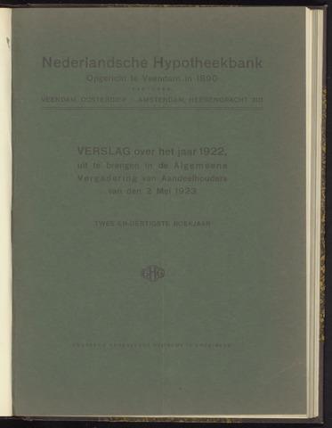 Jaarverslagen Nederlandsche Hypotheekbank 1922
