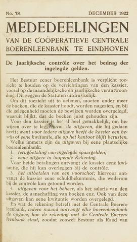 blad 'Maandelijkse Mededelingen' (CCB) 1922-12-01
