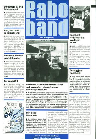 blad 'Raboband' 1992-12-14