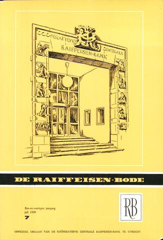 blad 'De Raiffeisen-bode' (CCRB) 1959-07-01