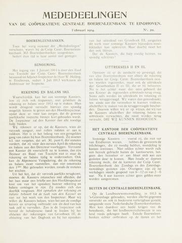blad 'Mededeelingen' (CCB) 1914