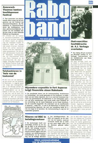 blad 'Raboband' 1989-08-11
