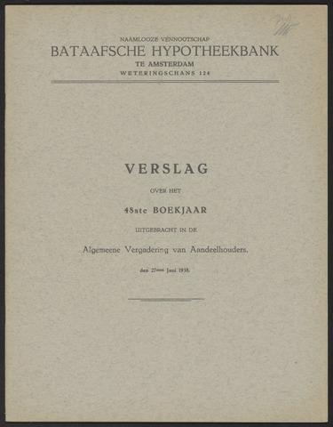 Jaarverslagen Bataafsche Hypotheekbank 1937