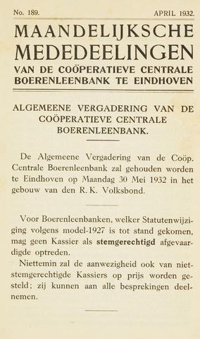 blad 'Maandelijkse Mededelingen' (CCB) 1932-04-01