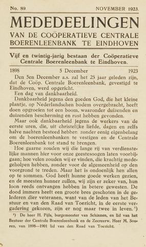blad 'Maandelijkse Mededelingen' (CCB) 1923-11-01