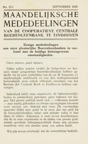 blad 'Maandelijkse Mededelingen' (CCB) 1939-09-01