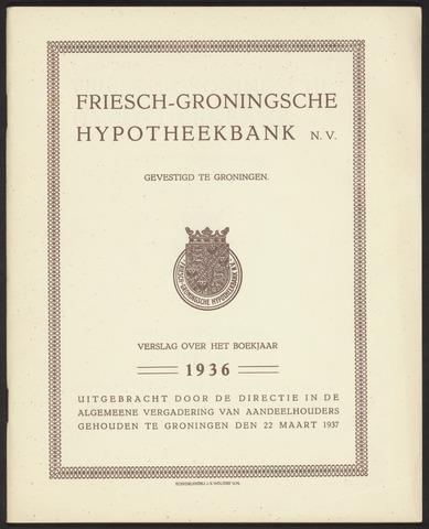 Jaarverslagen Friesch-Groningsche Hypotheekbank / FGH Bank 1936