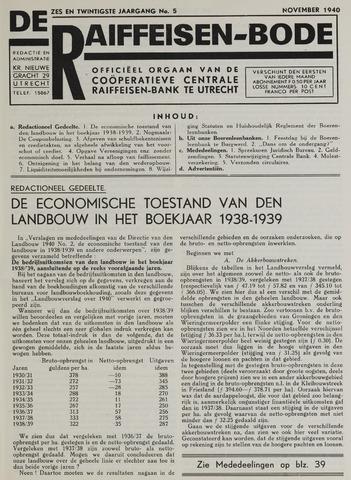 blad 'De Raiffeisen-bode' (CCRB) 1940-11-01