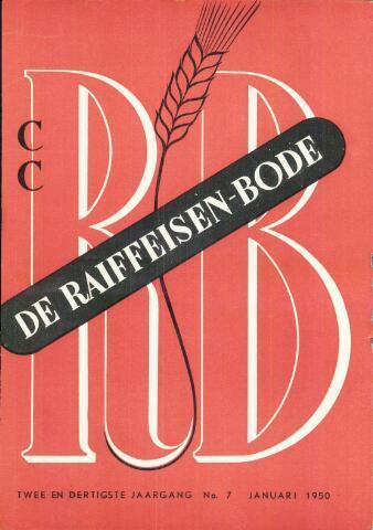 blad 'De Raiffeisen-bode' (CCRB) 1950-01-01