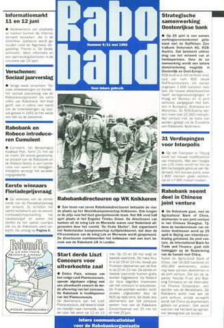 blad 'Raboband' 1992-05-11