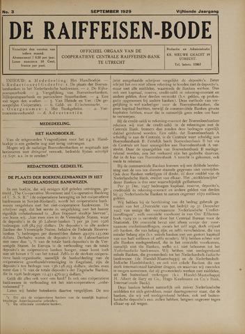 blad 'De Raiffeisen-bode' (CCRB) 1929-09-01