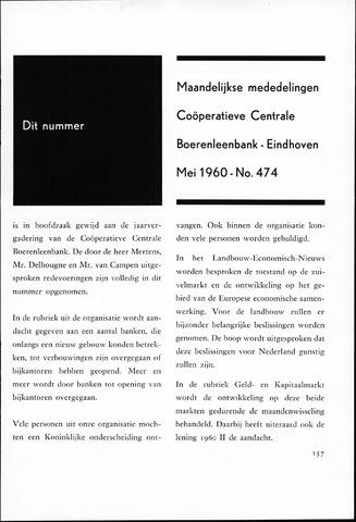 blad 'Maandelijkse Mededelingen' (CCB) 1960-05-01