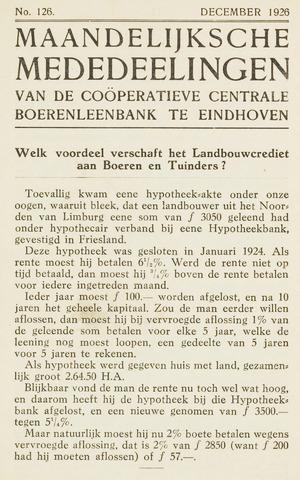 blad 'Maandelijkse Mededelingen' (CCB) 1926-12-01
