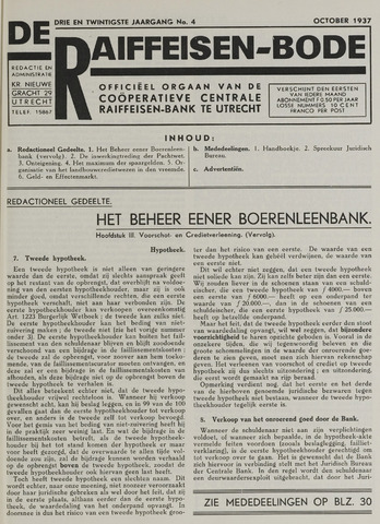 blad 'De Raiffeisen-bode' (CCRB) 1937-10-01