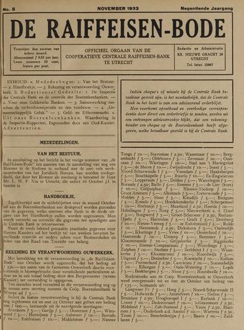 blad 'De Raiffeisen-bode' (CCRB) 1933-11-01