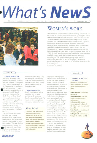 blad 'What's news' (EN) 1996-04-01
