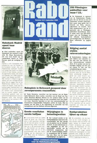 blad 'Raboband' 1989-09-01