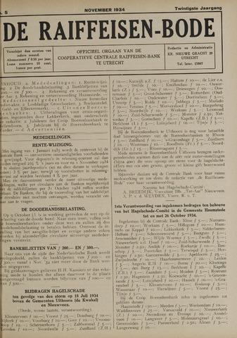 blad 'De Raiffeisen-bode' (CCRB) 1934-11-01
