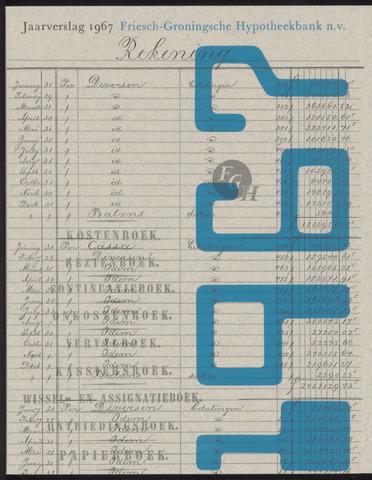 Jaarverslagen Friesch-Groningsche Hypotheekbank / FGH Bank 1967
