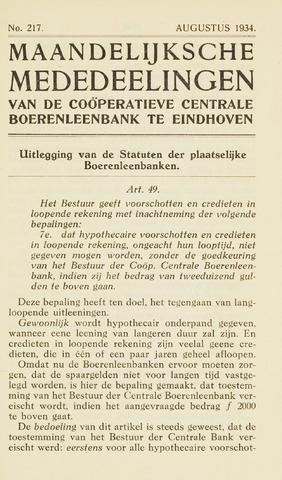 blad 'Maandelijkse Mededelingen' (CCB) 1934-08-01