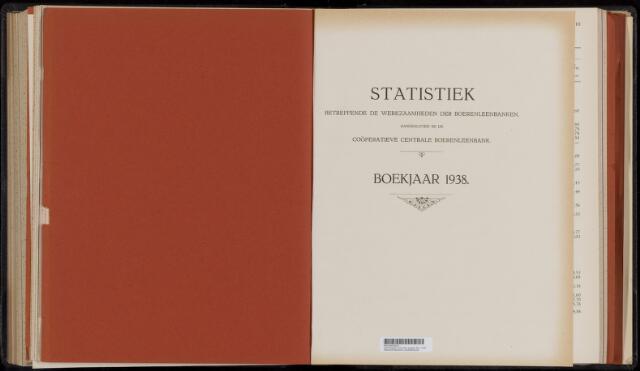 Statistiek aangesloten banken CCB 1938