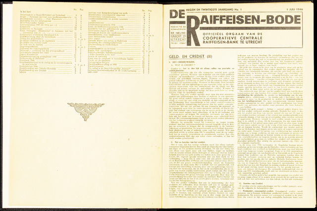 blad 'De Raiffeisen-bode' (CCRB) 1946-07-01